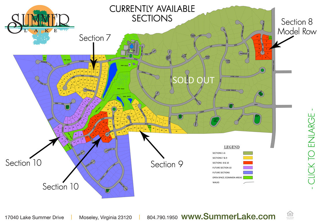 Available Lots in Summer Lake - July 30, 2018