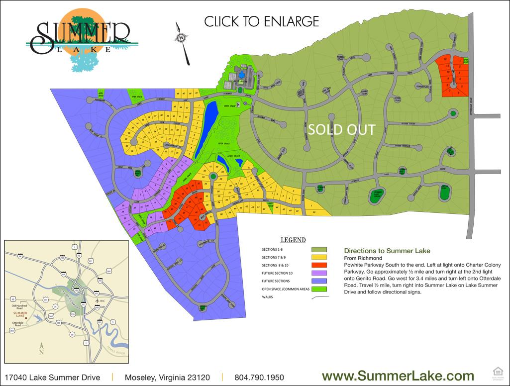 Sumer Lake Community Map - July 2018