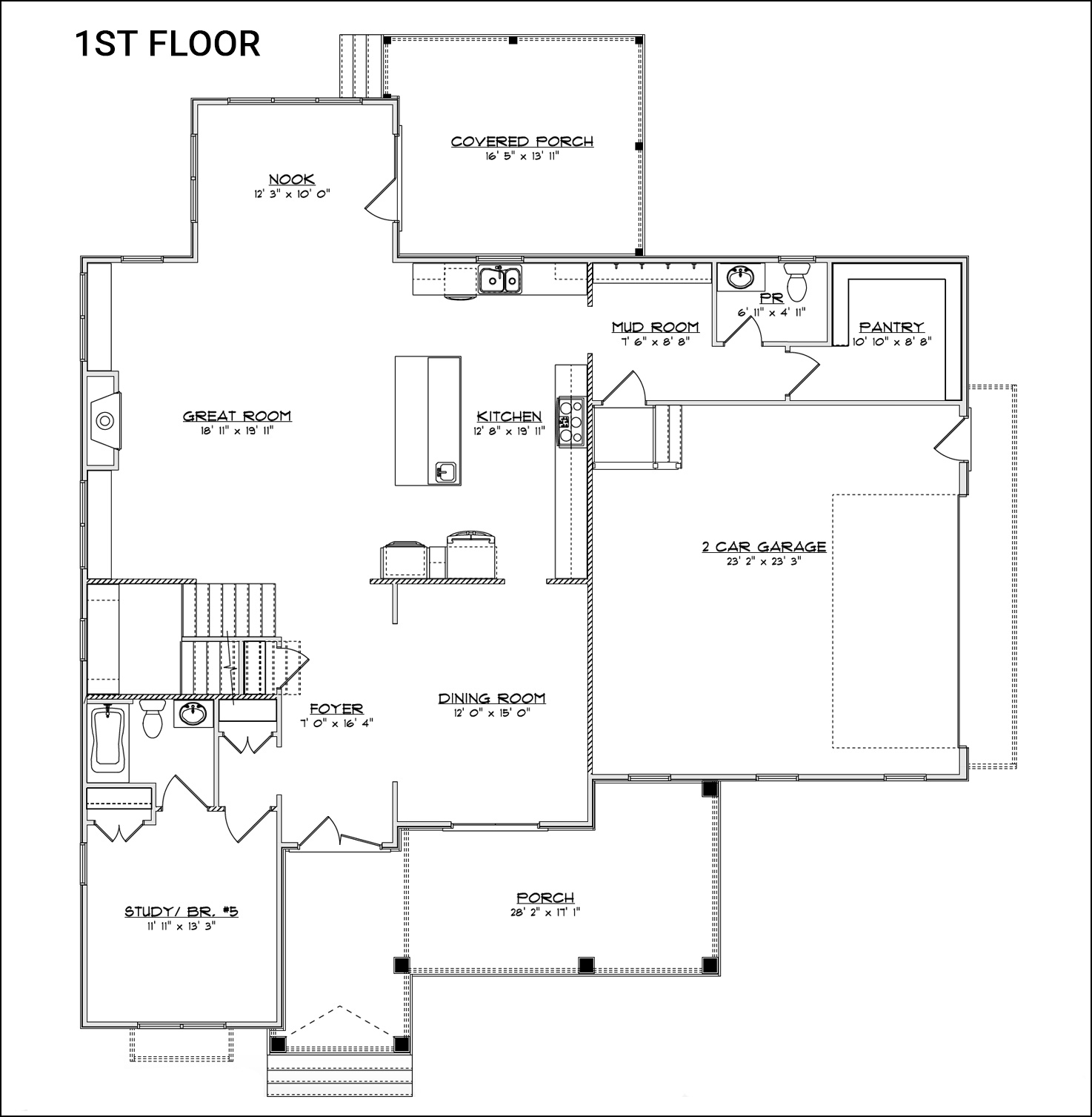 The Rosalyn - First Floor Plan