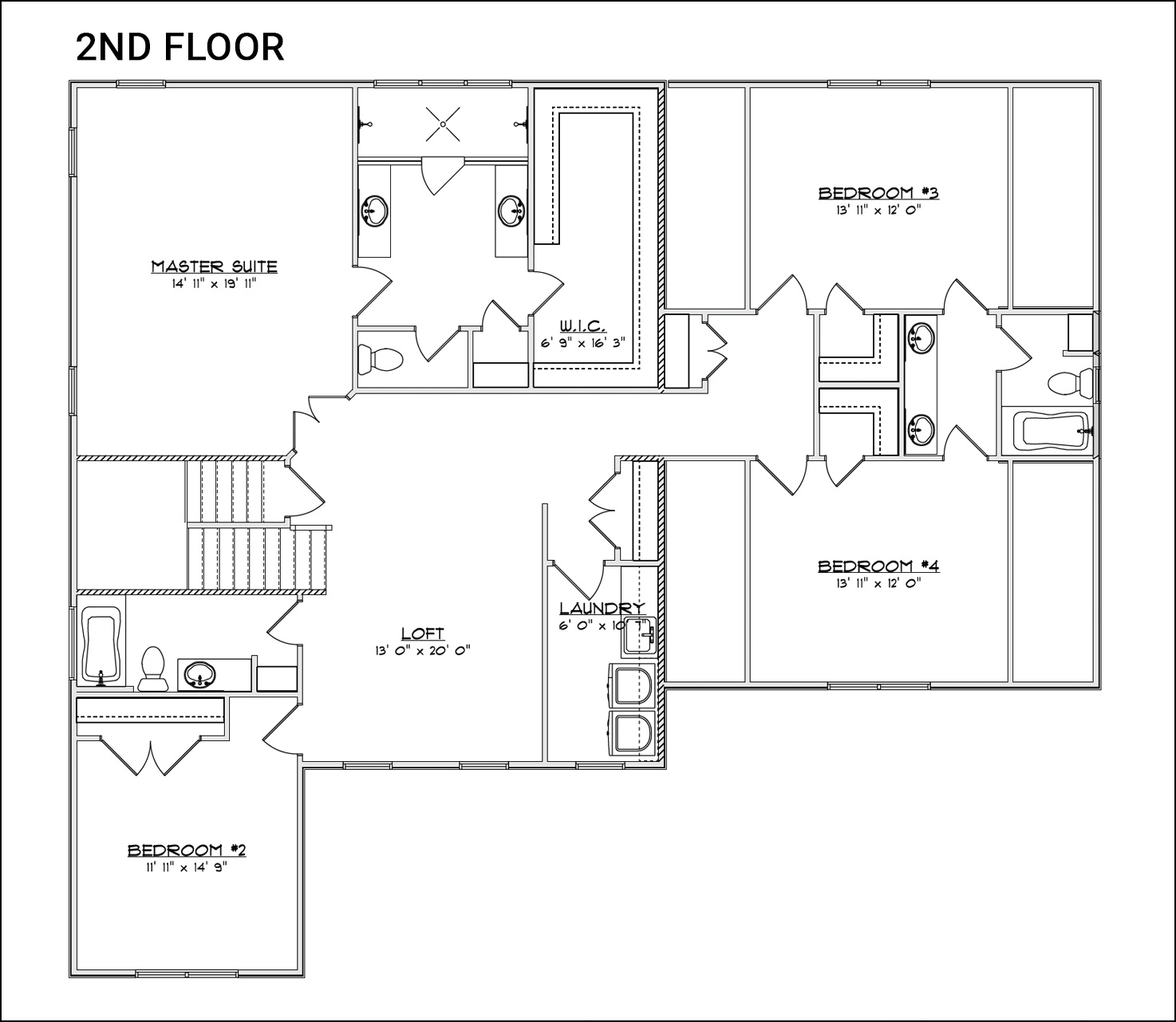 The Rosalyn - Second Floor Plan