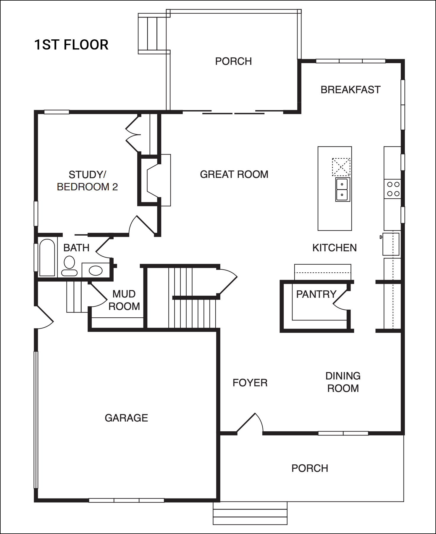 The Sycamore Model - First Floor