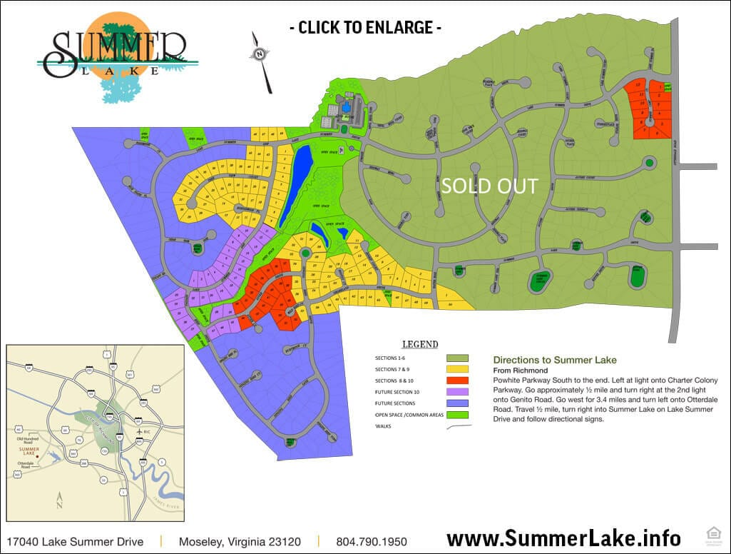 Summer Lake Community Map - 2019